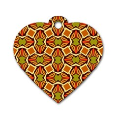 Geometry Shape Retro Trendy Symbol Dog Tag Heart (two Sides) by Nexatart
