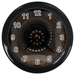Pattern Design Symmetry Up Ceiling Wall Clocks (black) by Nexatart