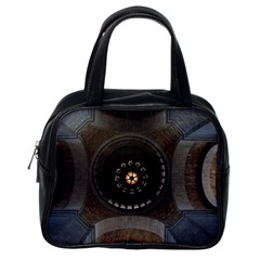 Pattern Design Symmetry Up Ceiling Classic Handbags (one Side)
