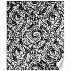 Gray Scale Pattern Tile Design Canvas 20  X 24   by Nexatart