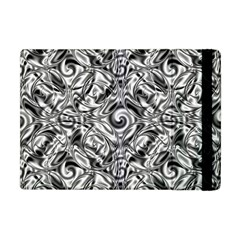 Gray Scale Pattern Tile Design Apple Ipad Mini Flip Case by Nexatart