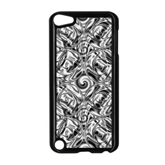 Gray Scale Pattern Tile Design Apple Ipod Touch 5 Case (black) by Nexatart