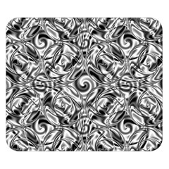 Gray Scale Pattern Tile Design Double Sided Flano Blanket (small)  by Nexatart