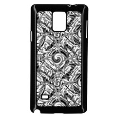 Gray Scale Pattern Tile Design Samsung Galaxy Note 4 Case (black) by Nexatart