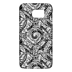 Gray Scale Pattern Tile Design Galaxy S6 by Nexatart