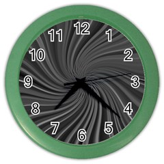 Abstract Art Color Design Lines Color Wall Clocks by Nexatart