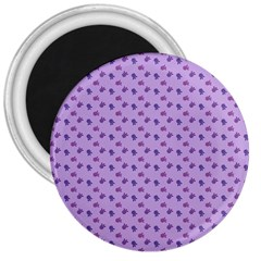 Pattern Background Violet Flowers 3  Magnets by Nexatart