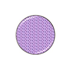 Pattern Background Violet Flowers Hat Clip Ball Marker by Nexatart