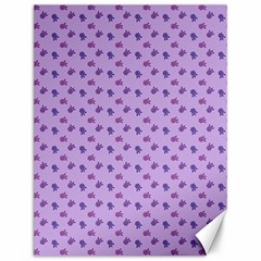 Pattern Background Violet Flowers Canvas 12  X 16