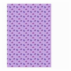 Pattern Background Violet Flowers Small Garden Flag (two Sides)