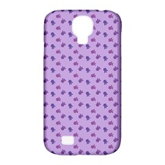 Pattern Background Violet Flowers Samsung Galaxy S4 Classic Hardshell Case (pc+silicone)