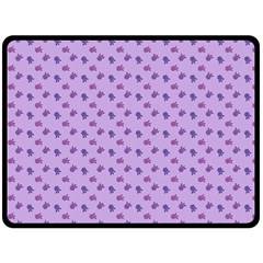 Pattern Background Violet Flowers Double Sided Fleece Blanket (large)  by Nexatart