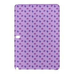 Pattern Background Violet Flowers Samsung Galaxy Tab Pro 10 1 Hardshell Case