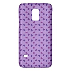 Pattern Background Violet Flowers Galaxy S5 Mini