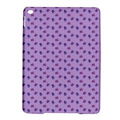 Pattern Background Violet Flowers Ipad Air 2 Hardshell Cases