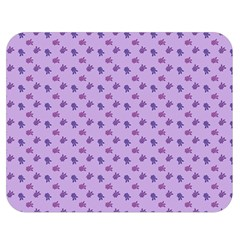 Pattern Background Violet Flowers Double Sided Flano Blanket (medium)