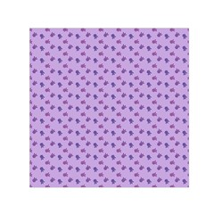 Pattern Background Violet Flowers Small Satin Scarf (square) by Nexatart