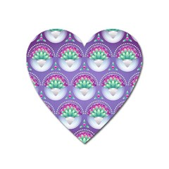 Background Floral Pattern Purple Heart Magnet by Nexatart