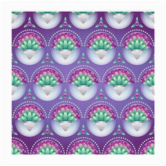 Background Floral Pattern Purple Medium Glasses Cloth (2 Side) by Nexatart