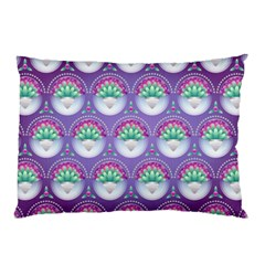 Background Floral Pattern Purple Pillow Case by Nexatart