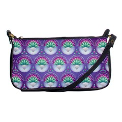 Background Floral Pattern Purple Shoulder Clutch Bags by Nexatart