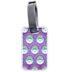 Background Floral Pattern Purple Luggage Tags (one Side)  by Nexatart