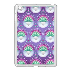Background Floral Pattern Purple Apple Ipad Mini Case (white)