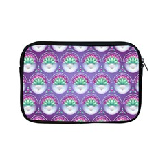 Background Floral Pattern Purple Apple Ipad Mini Zipper Cases by Nexatart