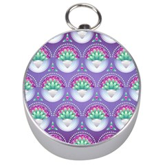 Background Floral Pattern Purple Silver Compasses by Nexatart