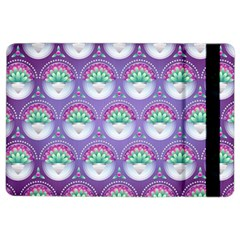 Background Floral Pattern Purple Ipad Air 2 Flip