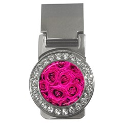Pink Roses Roses Background Money Clips (cz)  by Nexatart