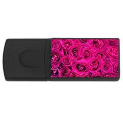 Pink Roses Roses Background Usb Flash Drive Rectangular (4 Gb)