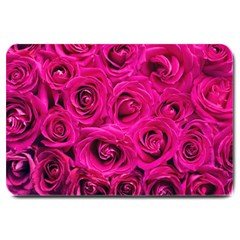 Pink Roses Roses Background Large Doormat