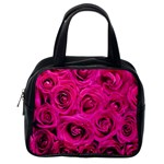 Pink Roses Roses Background Classic Handbags (2 Sides) Back