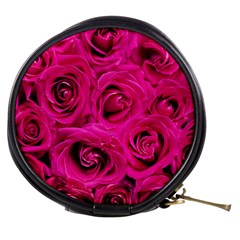 Pink Roses Roses Background Mini Makeup Bags by Nexatart