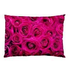 Pink Roses Roses Background Pillow Case (two Sides)