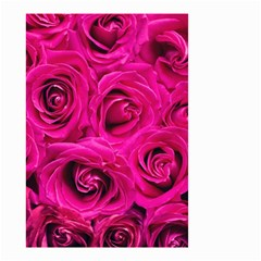 Pink Roses Roses Background Small Garden Flag (two Sides) by Nexatart
