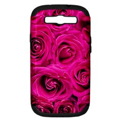 Pink Roses Roses Background Samsung Galaxy S Iii Hardshell Case (pc+silicone) by Nexatart