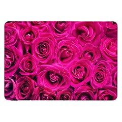Pink Roses Roses Background Samsung Galaxy Tab 8 9  P7300 Flip Case by Nexatart