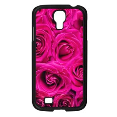 Pink Roses Roses Background Samsung Galaxy S4 I9500/ I9505 Case (black)