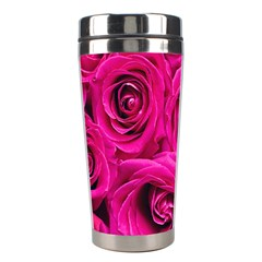 Pink Roses Roses Background Stainless Steel Travel Tumblers by Nexatart
