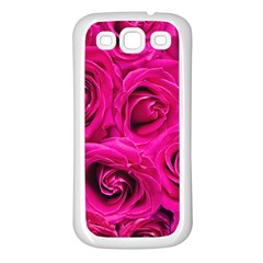 Pink Roses Roses Background Samsung Galaxy S3 Back Case (white)