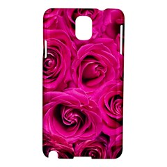 Pink Roses Roses Background Samsung Galaxy Note 3 N9005 Hardshell Case
