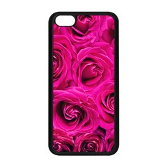 Pink Roses Roses Background Apple Iphone 5c Seamless Case (black) by Nexatart