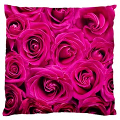 Pink Roses Roses Background Standard Flano Cushion Case (two Sides)