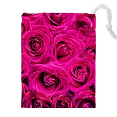 Pink Roses Roses Background Drawstring Pouches (xxl) by Nexatart
