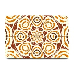 Brown And Tan Abstract Plate Mats by linceazul