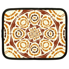 Brown And Tan Abstract Netbook Case (large) by linceazul