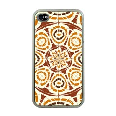 Brown And Tan Abstract Apple Iphone 4 Case (clear) by linceazul