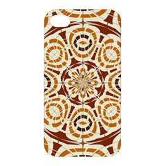 Brown And Tan Abstract Apple Iphone 4/4s Premium Hardshell Case by linceazul